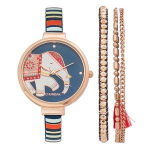 Regal Elephant Watch with Bracelet
